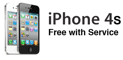 Free iPhone 4s with Service